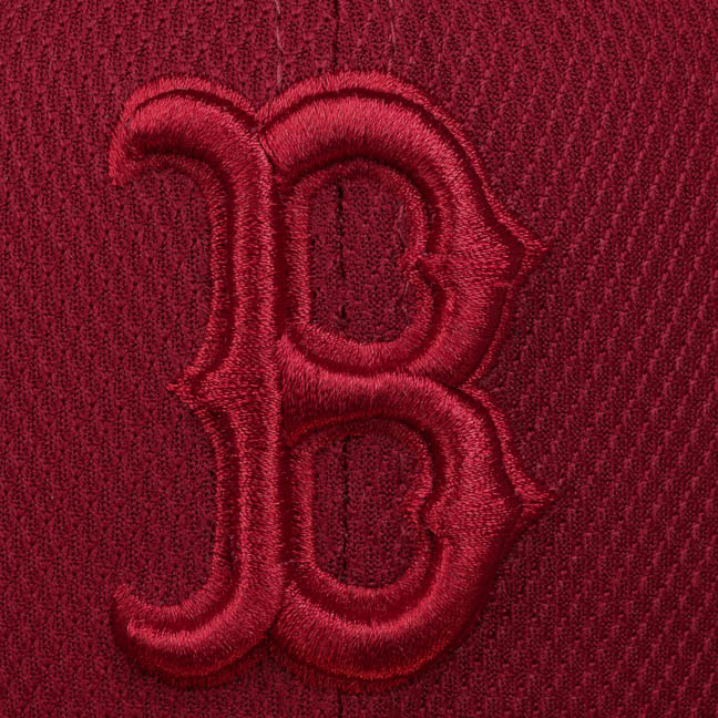 a09c9197db9 59Fifty Diamond Red Sox Cap by New Era - bordeaux 1 ...