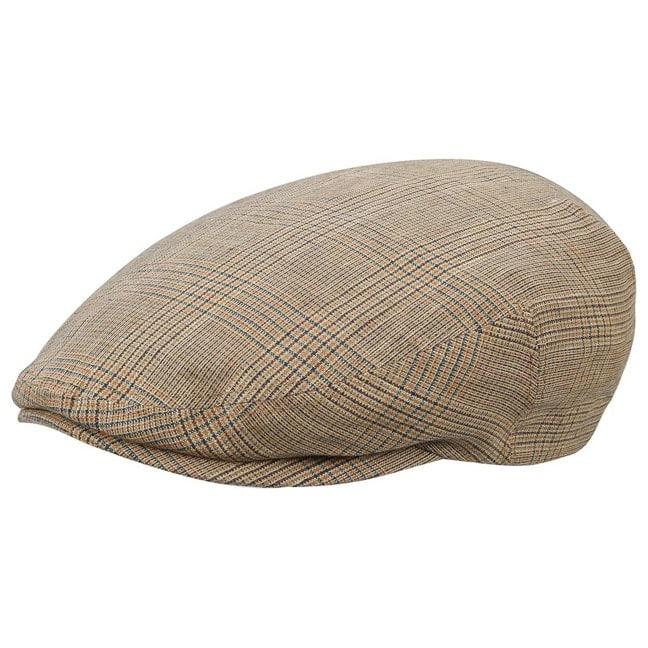 4867d5a59bb Checked Kent Linen Flat Cap. by Stetson