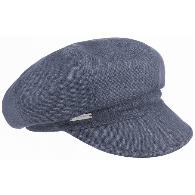 Cotton Linen Newsboy Cap by Seeberger f26d8944ea3