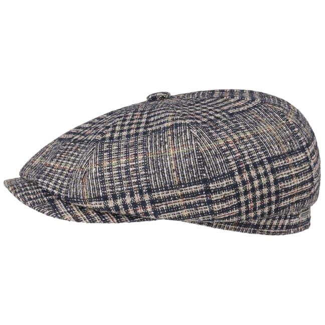 20df4f49e1838 Hatteras Wool Plaid Flat Cap by Stetson