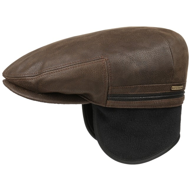 a2e77960 Kent Earflaps Leather Flat Cap by Stetson, GBP 99,00 --> Hats, caps ...