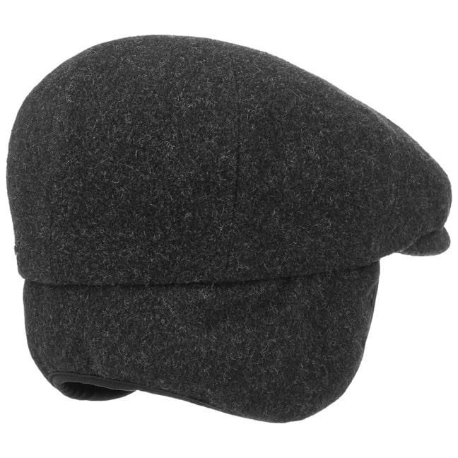 9b50b3256f8ca9 Kent Wool Earflaps Flat Cap by Stetson 360° View